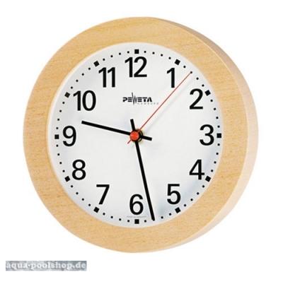 Vorraum-Uhr mit Holzgehäuse 22 cm Ø