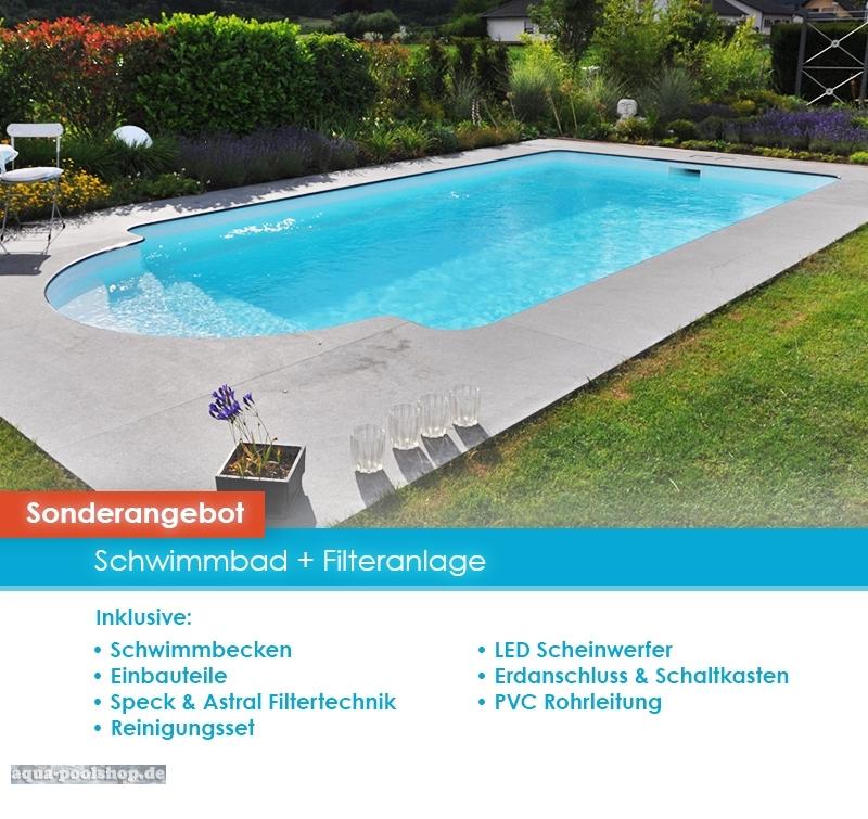 Schwimmbad mit abdeckung 7 60 x 3 50 x 1 55 m - Pool mit filteranlage ...