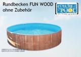 Rundschwimmbecken FUN WOOD 1,50 x 0,90 m, ohne Holzverkleidung