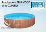 Rundschwimmbecken FUN WOOD 2,00 x 0,90 m