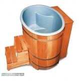 Sauna-Bottich mit Kunststoffeinsatz