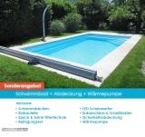 Schwimmbad Modell Nova Detente 7 mit Abdeckung und Wärmepumpe