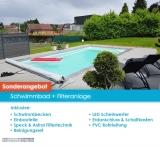 Schwimmbad Modell Nova Detente 6 mit Abdeckung und Wärmepumpe
