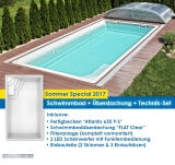 "Schwimmbad Modell Atlantis mit Überdachung ""FLAT Clear"""