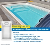 Schwimmbad Modell Solaris mit Überdachung FLAT Clear