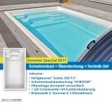 Schwimmbad Modell Solaris mit Überdachung HORIZONT