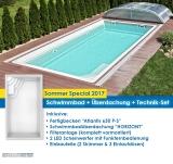 "Schwimmbad Modell Atlantis mit Überdachung ""HORIZONT"""