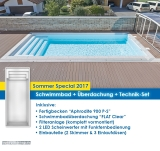 "Schwimmbad Modell Aphrodite mit Überdachung ""FLAT Clear"""