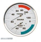 Sauna-Hygrothermometer 160 mm Ø