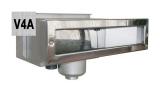 Edelstahlskimmer Slim 5000 mit Folienfl. mit 6°Blende